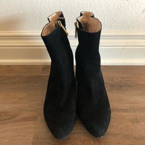 Louise et Cie Black Suede Shayna Ankle Boots